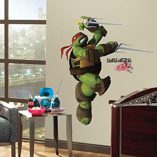 RoomMates Sticker repositionnable pour Enfants Motif Tortue Ninja Raphael