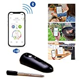 MASTRAD – Sonde De Cuisson 100 % Sans Fil Avec Application Mobile – meat°it – Bluetooth – Température Interne & Vitesse De Cuisson – Compatible IOS / Android – Facilement Rechargeable
