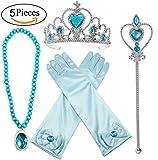 ALEAD Prinzessin Verkleiden Sich ELSA Blau 4 Stück Geschenk-Set...