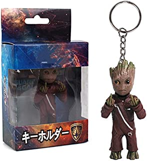 8 Types Mini Groot Figures Movie Guardians of The Galaxy Keychain Pendant Model Toy Best Gifts (2)