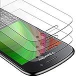 Cadorabo 3X Panzer Folie für BlackBerry Q10 - Schutzfolie in KRISTALL KLAR - 3er Pack Gehärtetes (Tempered) Bildschirm-Schutzglas in 9H Festigkeit mit 3D Touch Kompatibilität
