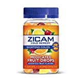 Zicam Cold Remedy Medicated Fruit Drops Homeopathic Medicine for Shortening Colds, Assorted Fruits, 25 Drops
