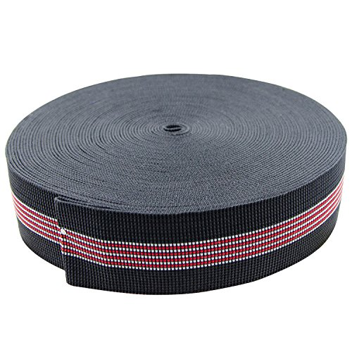 PBNICE Sofa Elastic Webbing Stretch Latex Band Furniture Repair DIY Upholstery Modification Elasbelt Chair Couch Material Replacement Stretchy Spring Alternative Two Inch 2' Wide x Sixty Ft 60' Roll