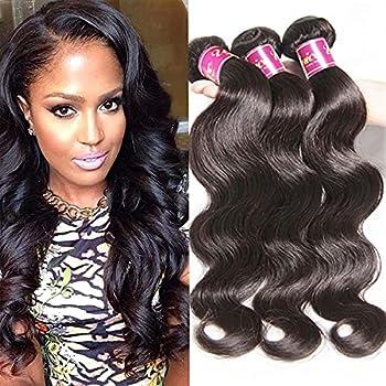 UNice Hair Icenu Series 4 Bundles 100% Real Unprocessed Brazilian Virgin Human Hair Body Wave Hair Extensions Natural Color  12 14 16 18