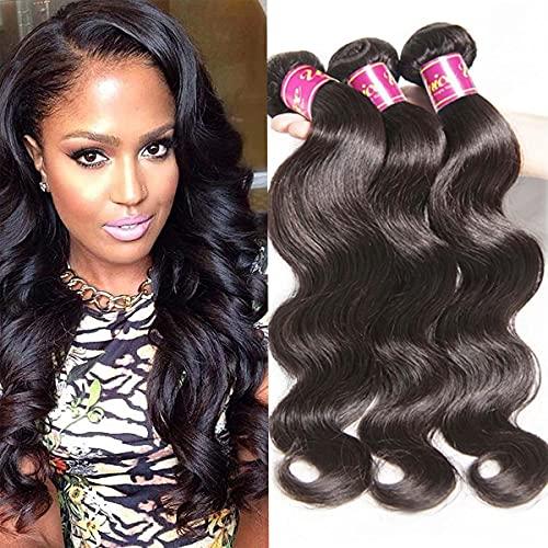 UNice Hair Icenu Series 16 18 20 22inch Brazilian Body Wave 4 bundles, 100% Real Unprocessed Virgin Human Hair Extensions Natural Black Color