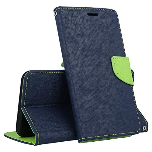 Compatible para Huawei Y6 II 2 Y62 Y6II / Honor 5A / CAM-L03 CAM-L21 CAM-L23 CAM-L32 Pantalla 5.5' stuche Cubierta Stand Book Gel TPU Proteccion Monedero Porta Tarjeta Rojo