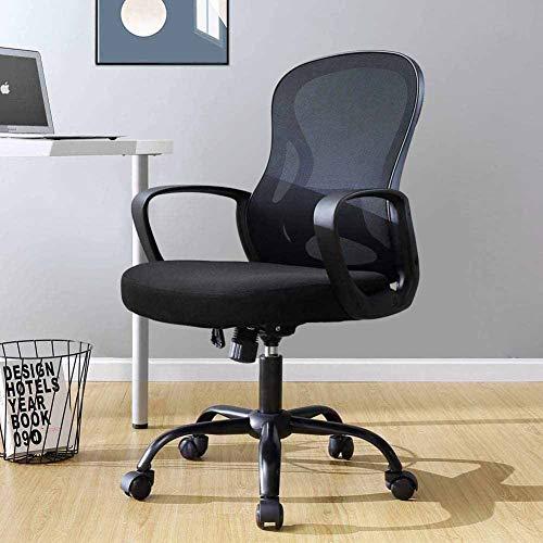 XLST Bürostuhl Schreibtischstuhl Ergonomischer Computerstuhl Höhenverstellung 360 ° Drehstuhl Mit Lendenstütze Netzrücken Chefsessel Maximale Belastbarkeit 150 Kg