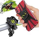 Cocoda Soporte Movil Bicicleta, Desmontable Soporte Movil Moto Bici, 360° Rotación Porta Movil Bicicleta Accesorios Moto Compatible con iPhone 12 Pro Max/12 Mini/11 Pro MAX/XS y Otro 4.7-7.5' Móvil