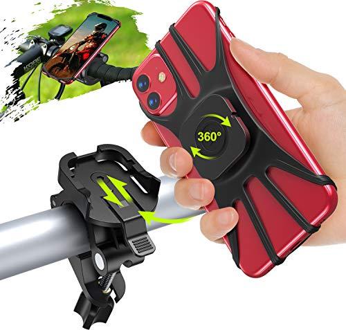 "Cocoda Soporte Movil Bicicleta, Desmontable Soporte Movil Moto Bici, 360° Rotación Porta Movil Bicicleta Accesorios Moto Compatible con iPhone 12 Pro Max/12 Mini/11 Pro MAX/XS y Otro 4.7-7.5"" Móvil"