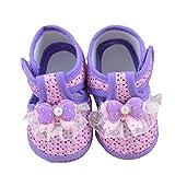 SOMESUN Baby Mädchen Anti-Rutsch Weiche Stoffschuhe Bowknot Taufschuhe Kleinkind Sneaker Neugeborene Baby Schuhe