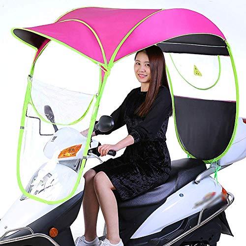 YLKCU Fundas para Motos Paraguas Impermeable Plegable eléctrico Universal para Bicicleta, Parasol...