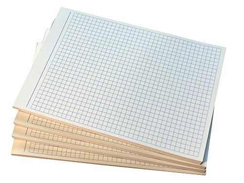 3x Notizblocks kariert in BLAU - Notizen - 50 Blatt, DIN A5, 50 Blatt, Qualitäts-Offset-Papier 80g/m² (22364)