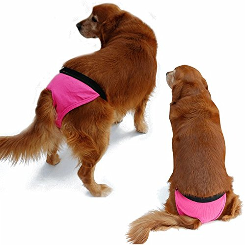 nikka(日華)犬用 サニタリーパンツ マナーパンツ 生理パンツ おむつカバー 女の子用 発情期用 メス 生理用 犬服 小型犬 中型犬 大型犬 まわしタイプ ピンク XSサイズ