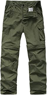 Kids Hiking Cargo Pants-Youth Boy's Outdoor Convertible Climbing Camping Fishing Trail Zip Off Trousers #9016