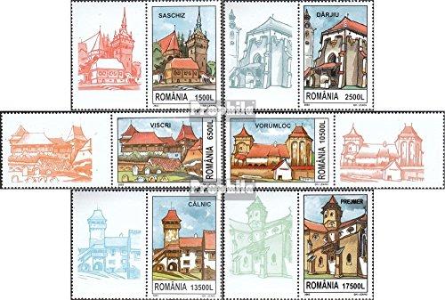 Prophila Collection Rumänien 5649-5654 mit Zierfeld (kompl.Ausg.) 2002 Kirchenburgen in Siebenbürgen (Briefmarken für Sammler) Christentum
