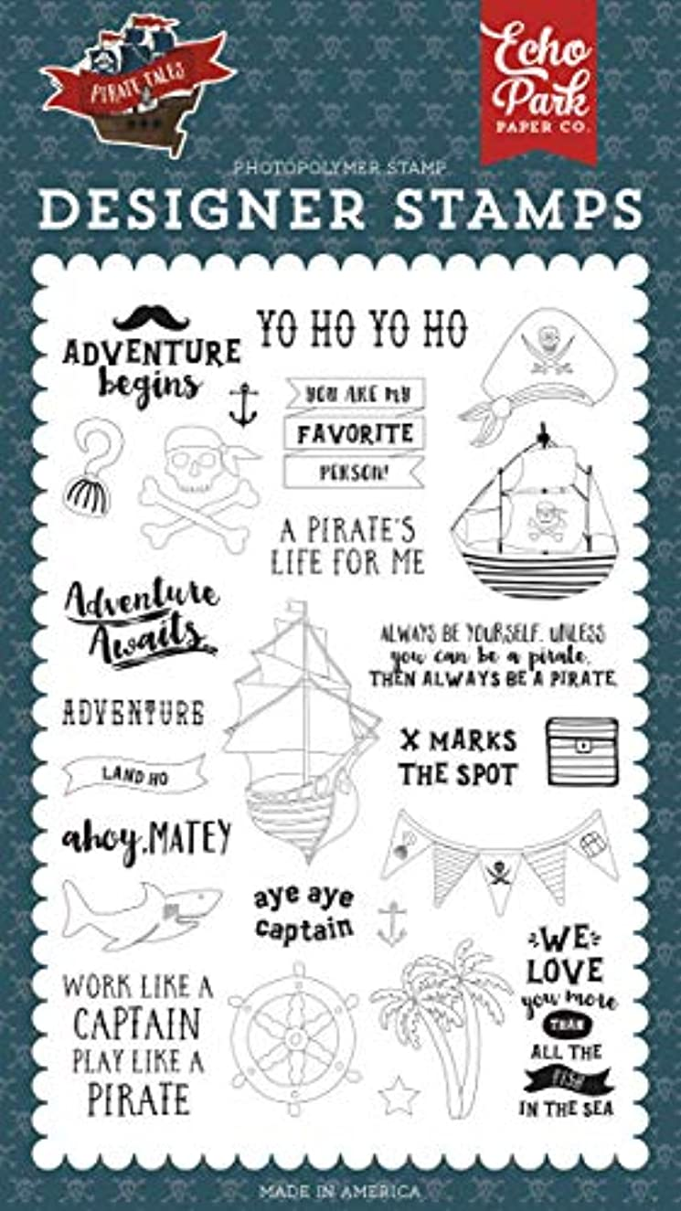 Echo Park Paper Company PTA176045 Land Ho Set Stamp red, Navy, Black, Brown, Yellow