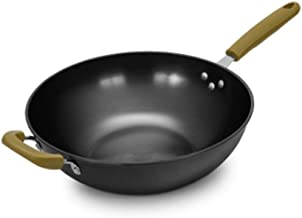 CPWJD Pan, Frying Pan, Old-fashioned Uncoated Fine Cast Iron Frying Pan, 12.8 Inches Black (Size : 32cm)