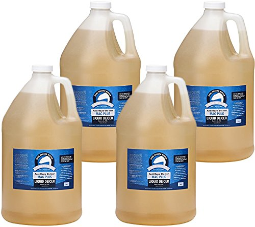 Bare Ground BGS-4 All Natural Anti-Snow Liquid De-Icer, 128 oz (1 Gallon) - Pack of 4