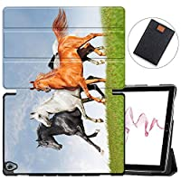 MAITTAO Compatible with Huawei MediaPad M6 10.8 2019 Case, Slim Leather Folio Smart-Shell Stand Cover with Auto Wake/Sleep for Huawei Mediapad M6 10.8 Inch 2019 Released Tablet, Akhal-Teke Horse 8