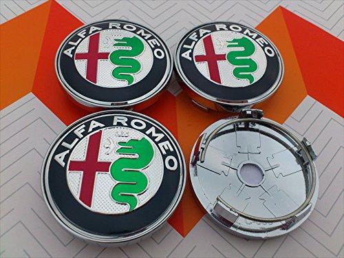 4 x coprimozzo compatibili con alfa romeo cerchi mito giulietta 147 156 159 brera 60 mm tuning