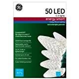 ge c5 led christmas lights - GE C-5 Lights 50 LED Energy Smart - Warm White, Green Wire 0394529