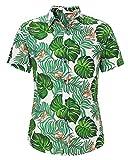Loveternal Camisa Flores Hombre Camisa Hawaiana Mariposa Impresión 3D Casual Botón Abajo Manga Corta BBQ Camisa Butterfly Shirt XXL