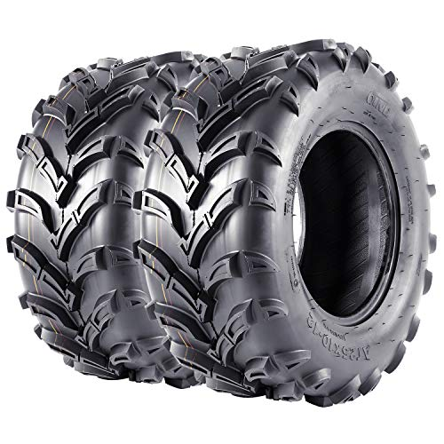VANACC Set of 2 ATV UTV Tires 25x10x12 AT Mud Tire 25 inch 25x10-12 Tubeless, 6PR