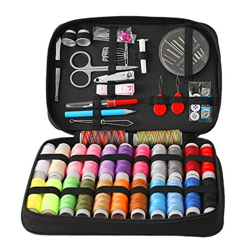 Senmubery Kit de Costura XL Premium - Kit Completo de Hilo y Aguja para Coser con 24 Hilos de Color - Kits de Costura para Adultos