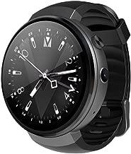 LLWANIGN Smart Watch Smart Watch Android 7.0 RAM 1 GB ROM 16 GB Smartwatch GPS WiFi Nano SIM Carte 4G for iPhone Android Smartwatch,Black