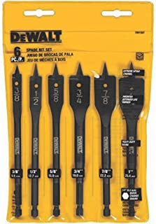 DEWALT Drill Bit Set, Spade Bits, Assorted, 3/8-Inch to 1-Inch, 6-Piece (DW1587)