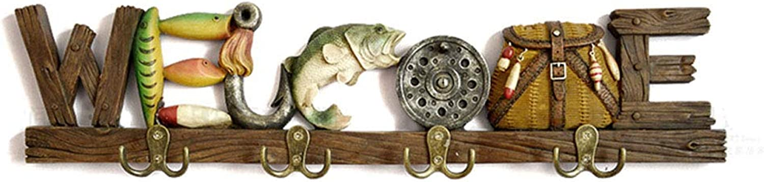 Retro Clothes Hat Rack,Decoration Wall Key Hook for Coats, Hats, Scarves, Clothes, and Handbags,B