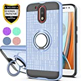 Moto G4 Case, Moto G4 Plus Phone Case(NOT FIT Moto G4 Play),with HD Phone Screen Protector,YmhxcY 360 Degree Rotating Ring & Bracket Dual Layer Resistant Back Cover for Motorola Moto G4-ZH Metal Slate