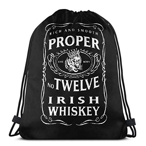 Richtige 12 Irish Whiskey McGregor inspirierte Kordelzug Tasche Sport Gym Sack Shopping Travel Folding Schulter Rucksack Muster