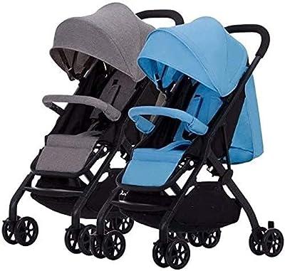 Cochecito para bebés para recién nacido, liviano recién nacido carro de bebé cochecito doble destruyendo desaliñado ligero plegable segundo niño bebé baby split doble, doble uso, portátil y flexible