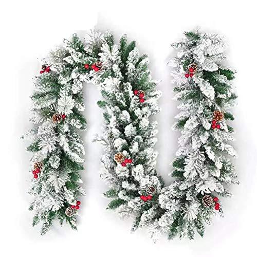 SayHia Kerstmis rotan neuken krans deur opknoping slinger kerstboom ornamenten