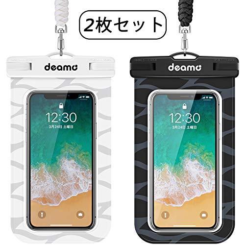 防水ケース「2枚入」IPX8認定 スマホ防水ケース 顔認証対応 iPhone11 pro Max/X…