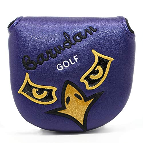 Golf Putter Cover,Putter Head Covers Golf Club Head Covers Mallet Putter Headcover Leather Golf Putter Covers with Magnetic & Angry Birds Design for Scotty Cameron Odyssey 2 Ball Taylormade Ping