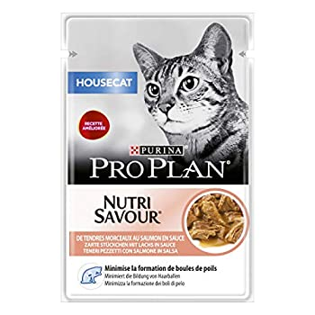 Purina Proplan Cat Nutrisavour Housecat Saumon 24 pochons 85 grs