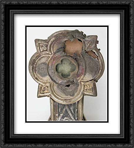 Italian Culture - 28x32 Black Ornate Framed and Double Matted Art by Museum Prints Titled: Reliquary Cross