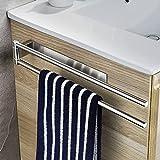 oetams porta asciugamani, portasciugamani girevole da parete con due bracci orientabili, porta salviette autoadesivo in acciaio inox da per cucina bagno