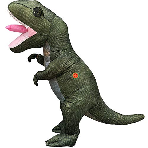 FIZZENN Dinosaur Kostuum Opblaasbare T-Rex/Papier Grappige Blow Up Pak Halloween Cosplay Fantasy Kostuums Volwassene/Kinderen