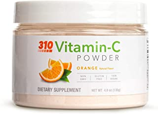 Vitamin C Powder by 310 Nutrition (4.8 oz) - 1000mg Powdered Ascorbic Acid for Immune Support - Non GMO - Gluten Free - Ve...