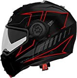 CABERG Droid Blaze Matt Black/Red Fluo L