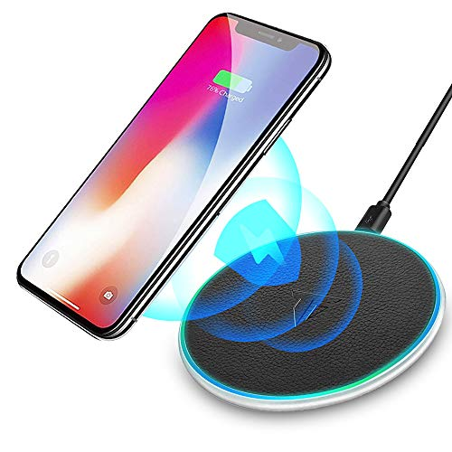 Tiamat+ Wireless Charger,Qi-Certified 10W Max Ultra Slim Fast Wireless Charging Pad, Compatible with iPhone SE 2020/11/11 Pro/11 Pro Max/XR/XS/X/8,AirPods,Samsung Galaxy S20 S10 S9 S8, Note 10 9 8
