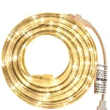 PERSIK Rope Light - for Indoor and Outdoor use, 18 Feet, 108 LED Warm-White Lights