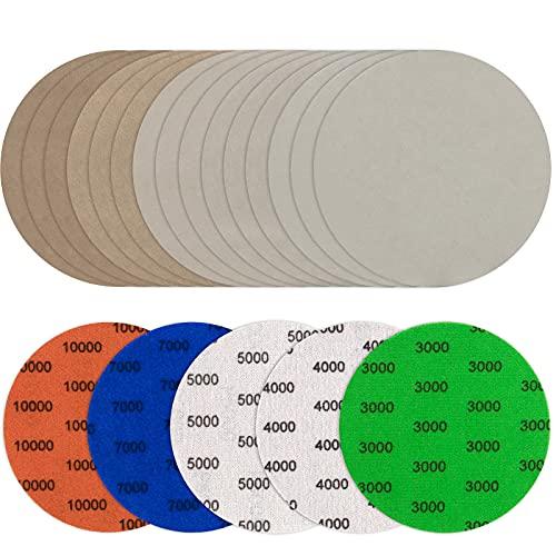 JatilEr Grano 3000/4000/5000/7000/100000/2000/10000 - Juego de 25 discos de lija para lijadora eléctrica