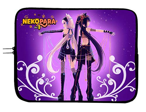 Brand4 Nekopara Anime Laptop Sleeve Bag w/Mousepad Surface - Fits Up to 15 Inch Notebook Mac Book Pro MacBook Air Surface Pro All Laptops & Tablets