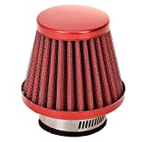 HIAORS 38mm Air Filter Intake Induction Kit Universal for Chinese GY6 50cc QMB139 Taotao Sunl BMS Lance Wildfire Moped Scooter Predator 212cc GX200 196cc Engine Mini Bike Go Kart Red
