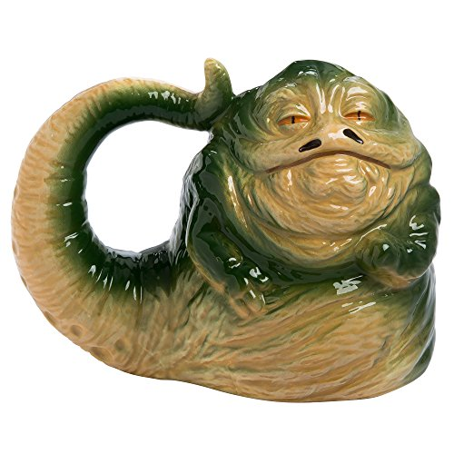 Star Wars Jabba the Hutt 20 oz. Sculpted Taza De Cerámica