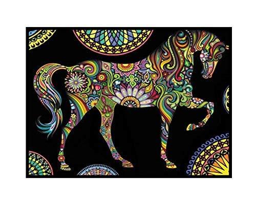 Colorvelvet - Dibujo Caballo Mandala 47 x 35 - L85